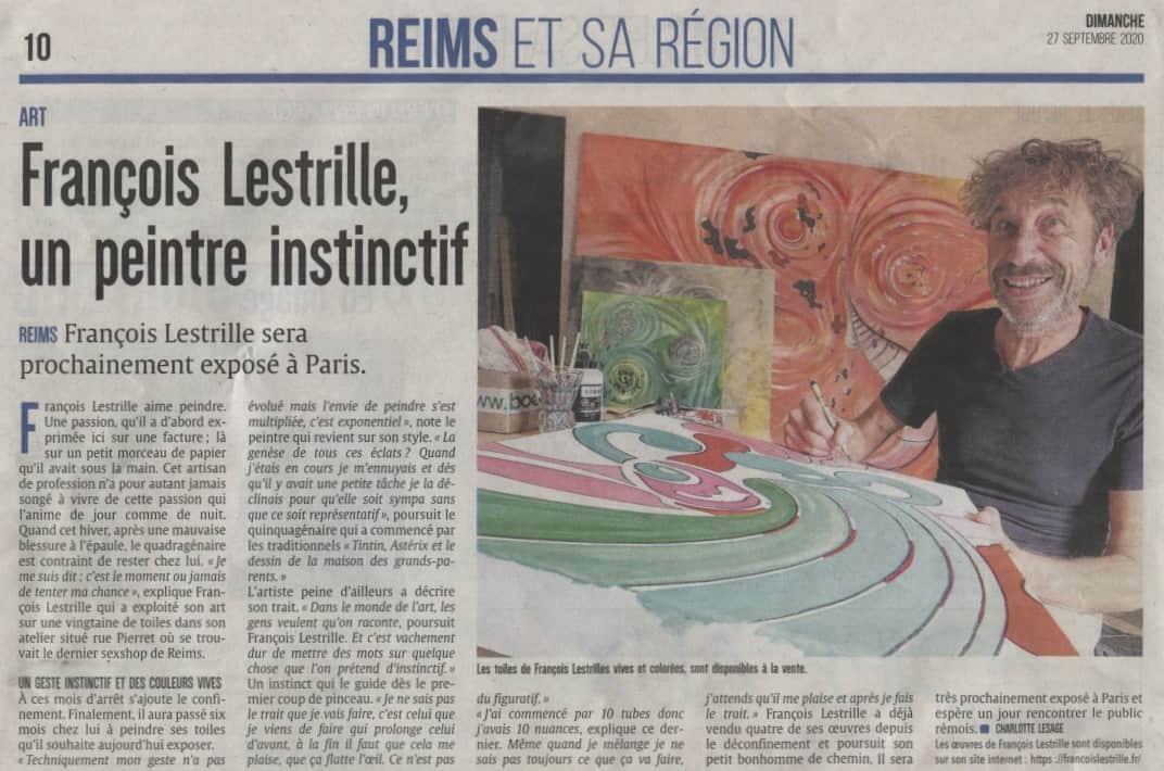 Article François LESTRILLE L'UNION REIMS