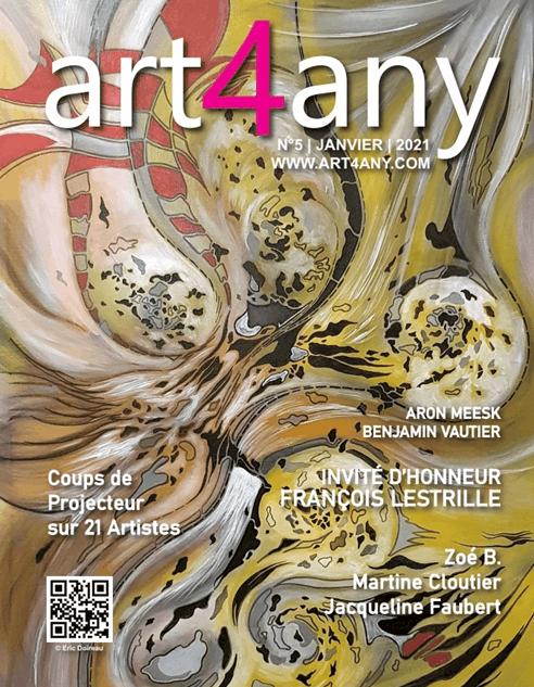 couverture art4any janvier 2021 François LESTRILLE