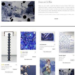 Focus sur le Bleu Artsper François LESTRILLE