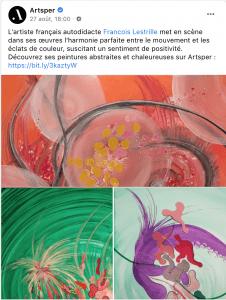 Facebook Artsper François LESTRILLE